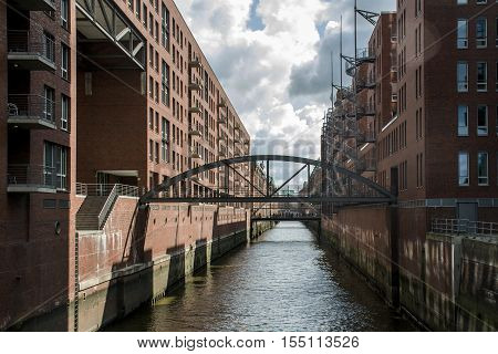Hamburg City Germany the Speicherstadt Warehouse district