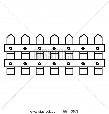 Wood fence icon. Barrier picket and garden theme. Isolated design. Vector illustration