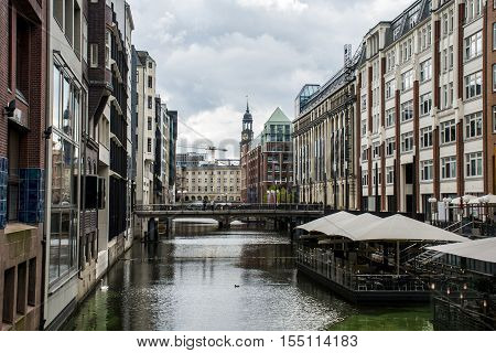 Hamburg City Alster River Buildings old Architecture 2