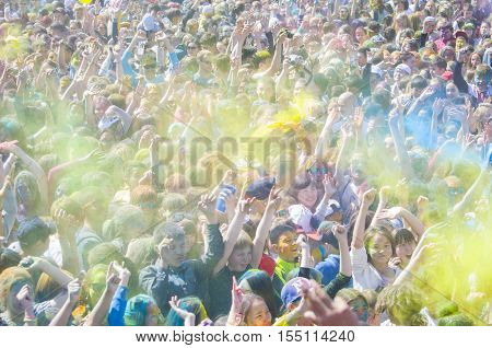 Ulan-ude, Russia - May 31: The Indian Festival Of Colors