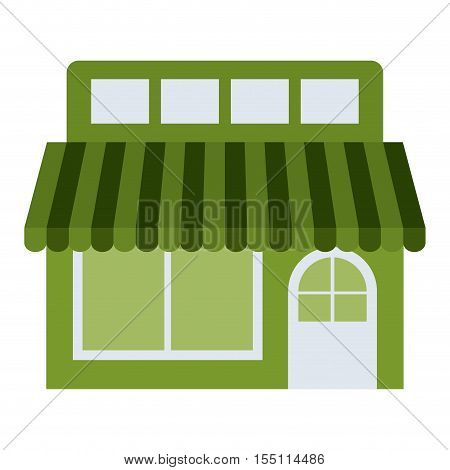 Store icon. Green ecology renewable innovation and alternative theme. Vector illustration