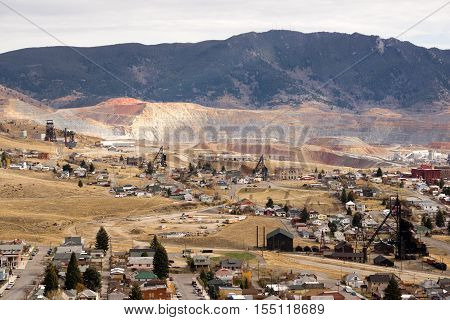 The Berkeley Pit Mine and Butte Montana