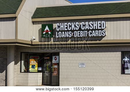 Indianapolis - Circa November 2016: ACE Cash Express Consumer Location. ACE Cash Express is a payday loan company II