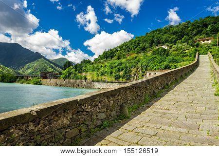 Old Stone Bridge In Borgo A Mozzano
