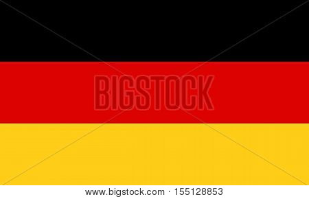 Official vector flag of Germany . Federal Republic of Germany .