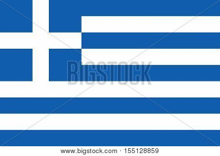 Official vector flag of Greece . Hellenic Republic .