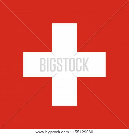 Official vector flag of Switzerland . Swiss Confederation .