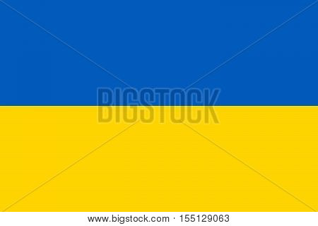 The Official vector flag of Ukraine .