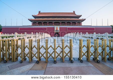 The Tiananmen Square in Beijing China.East Asia