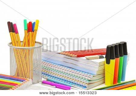 stationery isolated on a white background