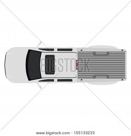 White Pick Up Car