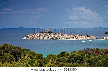 Mediterranean Town of Prinosten in Croatia