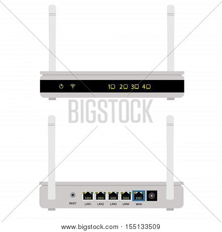Router Front And Back View