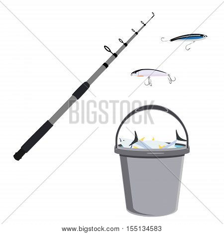 Fisherman Catch And Equipment