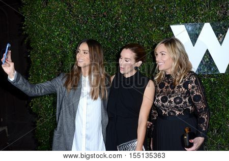 LOS ANGELES - NOV 2:  Jessica Alba, Katherine Power, Hillary Kerr at the Who What Wear 10th Anniversary #WWW10 Experience at Private Location on November 2, 2016 in Los Angeles, CA
