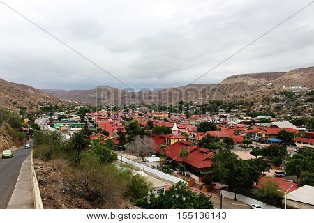 Red roofs of Santa Rosalia, Mexico, city scape