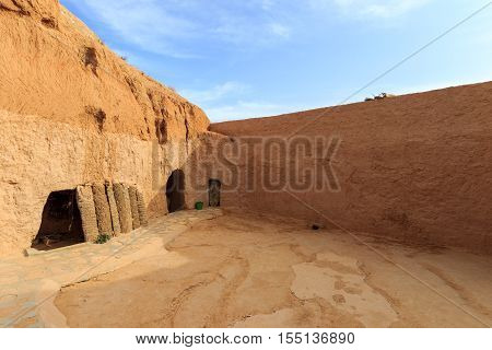 Dwelling Berber at Sahara desert Tunisia, Africa
