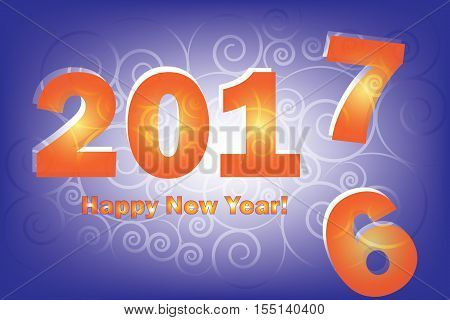 New Year 2017 is coming. Happy New Year 2017 replace 2016 year.