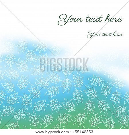 Abstract vector background. The leaves are colored substrate. Place for your text