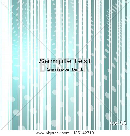 Abstract vector background. Stripes and polka dots.