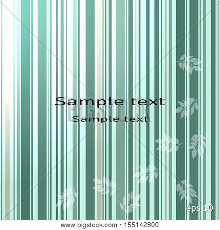 Abstract vector background. The leaves are colored striped substrate. Place for your text