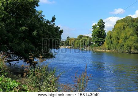 A view of the River Thames near Richmond in London