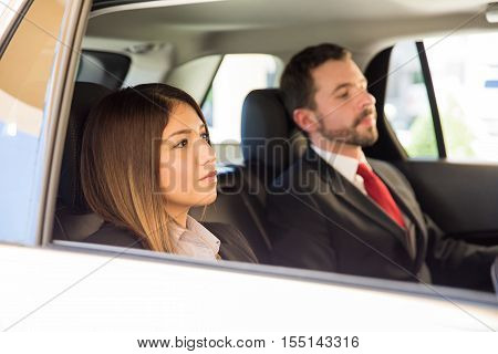 Traveling By Car On A Business Trip