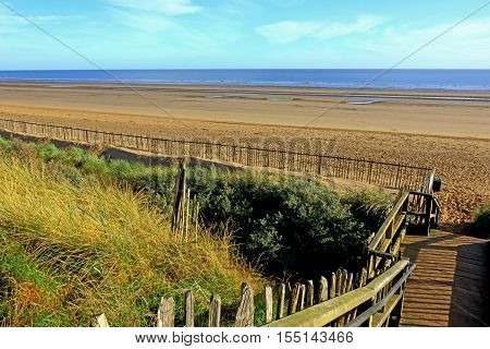 A view of the beach at Maplethorpe in Lincolshire