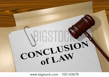 Conclusion Of Law - Legal Concept