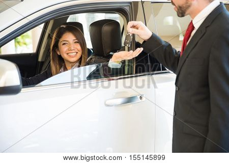 Woman Just Bought A New Car