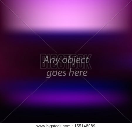 Vector presentation stand abstract vector background for visual presentation of any objects