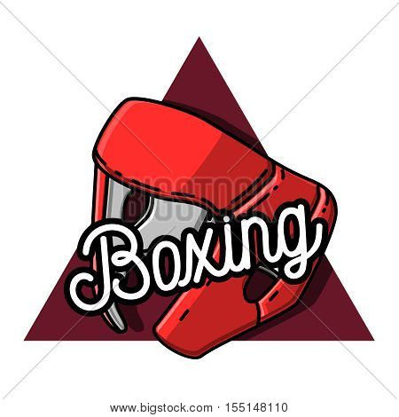 Boxing logo template. Boxing club logotype. Boxing emblem, label, badge, t-shirt design, boxing fight theme