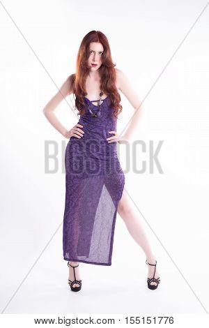 Isolated Fashion Model