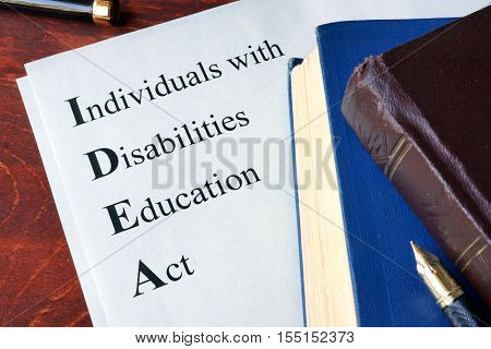 Paper with title Individuals with Disabilities Education Act (IDEA)