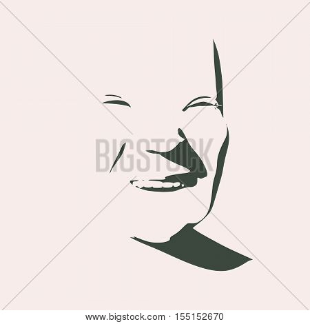 Human emotions expression vector illustration. Isolated avatar of the expressions face. Emotional head illustration.