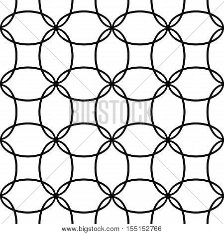Seamless abstract black and white ellipse pattern background design