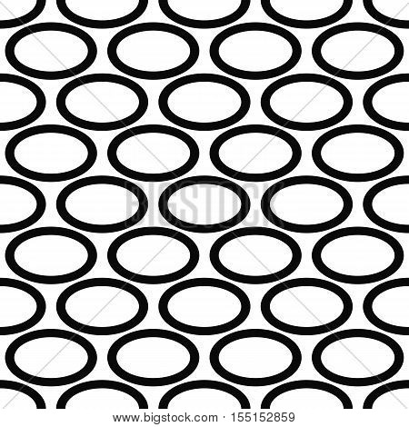 Abstract black and white ellipse pattern background design