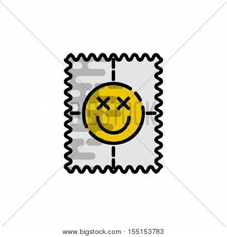 Drugs flat icon. Medical symbol. Vector illustration EPS 10