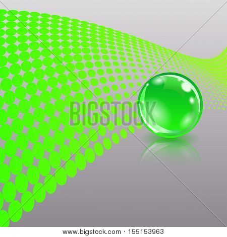 Concept with ball. Abstract business design. Vector eps10 illustration