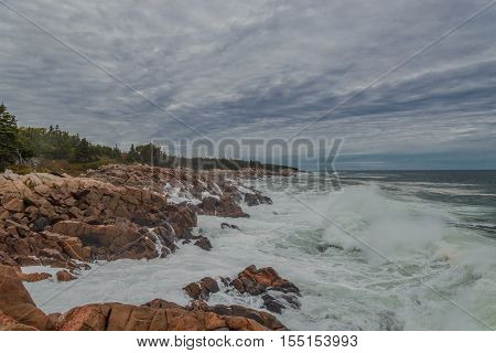Ocean coast (Cabot Trail Cape Breton Nova Scotia Canada)