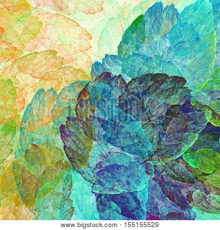 Abstract painting watercolor. Strokes paint canvas. 3D surreal illustration. Sacred geometry. Mysterious psychedelic relaxation pattern. Fractal abstract texture. Digital artwork graphic astrology