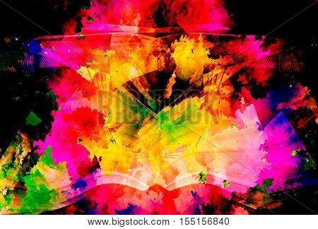 colorful abstract  pattern color texture background .