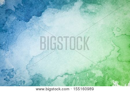 Abstract artistic green blue watercolor background image