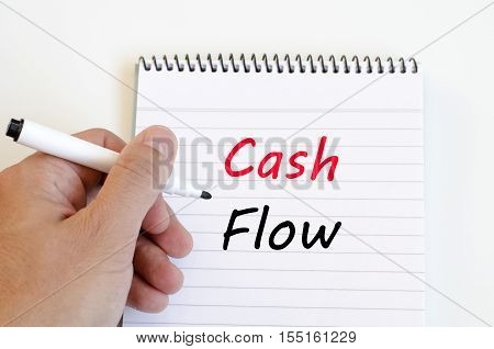 Cash flow text concept write on notebook