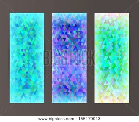 Vertical Banner Set Design Element Background Glow Abstract Shape28
