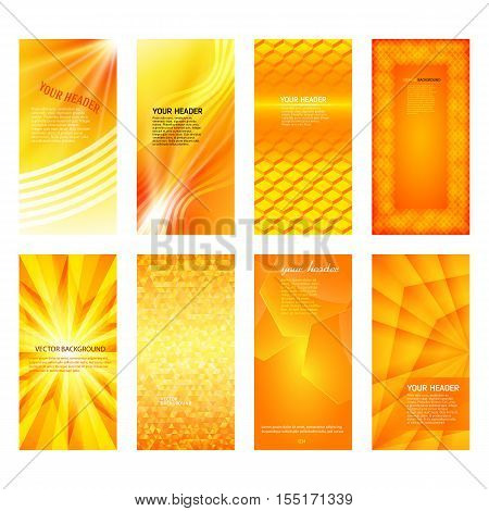 Vertical Banner Set Design Element Background Glow Abstract Shape33
