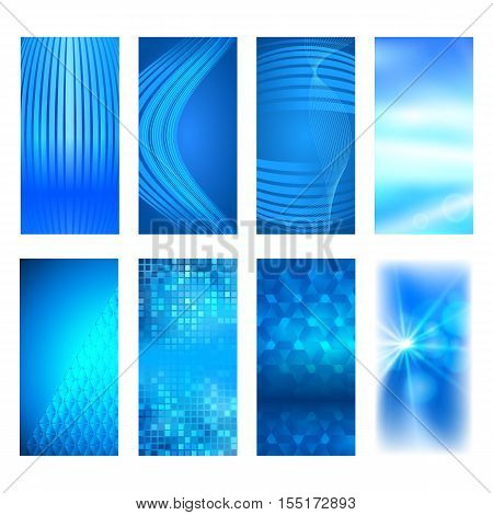 Vertical Banner Set Design Element Background Glow Abstract Shape35