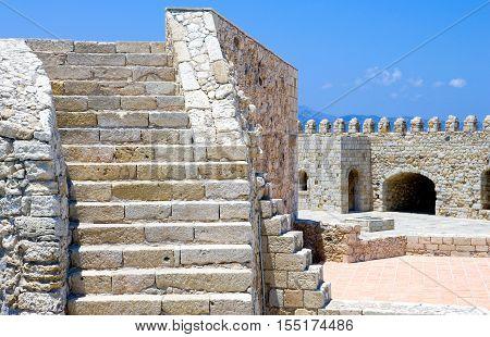 Greece Crete Iraklio the Venetian fortress called Rocca al Mare