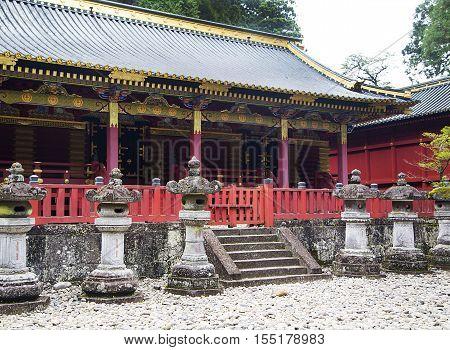 View at storehouse at Tosho gu shrine at Nikko Japan
