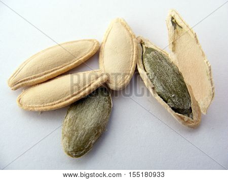 Dry nuts natural and organic pumpkin seeds and seeds